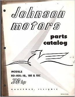 1956 JOHNSON OUTBOARD MOTOR 30 HP PARTS MANUAL P/N 376750