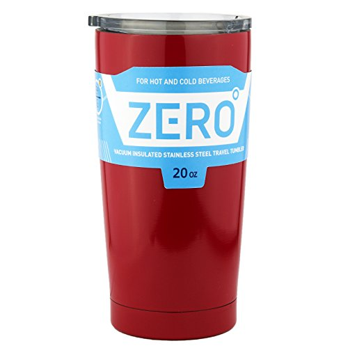 Stainless Steel Tumbler with Lid, Double Wall Vacuum Insulated Travel Mug for Hot and Cold Drink by Zero Degree (20oz Red)