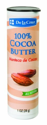 De La Cruz Pure Cocoa Butter Stick, Hexane-Free, No Preservatives, Fragrances or Artificial Colors, Packed in USA 1 OZ