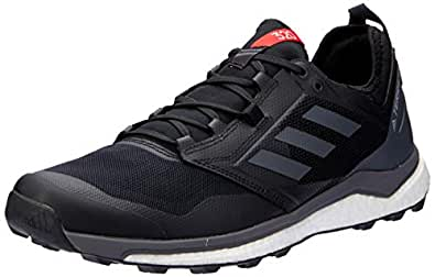adidas Australia Men's Terrex Agravic XT Trail Running Shoes, Core Black/Grey/Hi-Res Red, 6.5 US