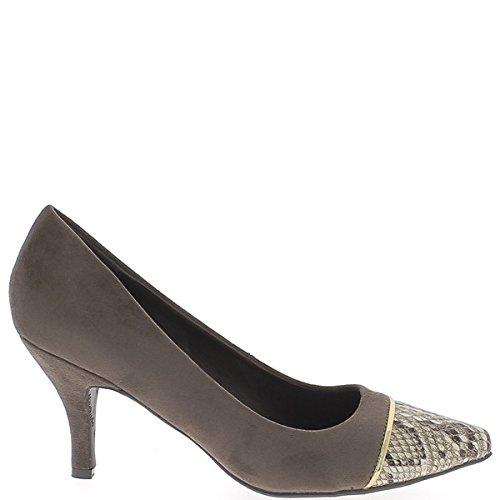 Große Schuhe Größe Brown wies auf 8,5 cm Wildleder Look Ferse