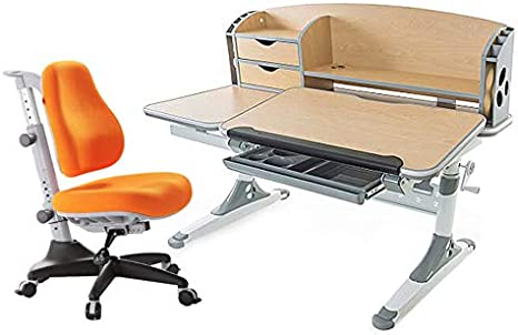 Ergodesk Set Bologna Adjustable Desk With Seat Height Adjustable Desk With Comfort Pro Match Chair Office Chair Amazon De Kuche Haushalt