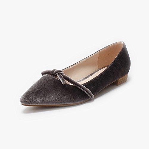 Establece Zapatos Color del Mujer Bajo con Cómodos Zapatos Luz Alto GAOLIM Femeninos Pie Talón Singles La Sólido Gris Zapatos Punta Cómodos De wCZIxq