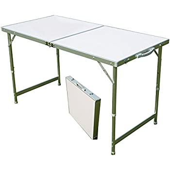 Acelife aluminum folding camping table with carrying handle portable and height - Camping table adjustable height ...