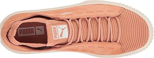 Puma Bretel Gebreide Sunfaded Mens Zwart Suède Veter Sneakers Schoenen Gedempt Klei-gefluister Wit