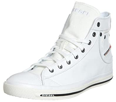 1467c31b0223 Diesel Exposure I White Black Leather Mens New Hi Trainers Shoes Boots-9