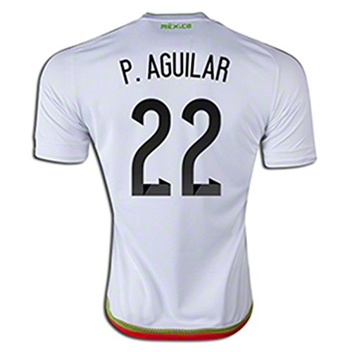 後継評議会唯一ADIDAS P. AGUILAR #22 MEXICO AWAY SOCCER JERSEY 2015-16/サッカーユニフォーム メキシコ アウェイ用 P. アギラール 背番号22 2015-16
