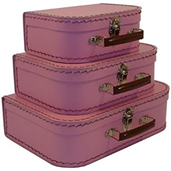 Amazon.com: cargo Vintage Travelers Mini Suitcases, Set of 3, Pink ...
