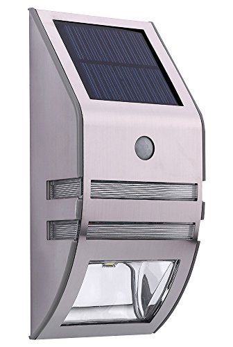 MaxBrite LED SOLAR PATHWAY Motion Activated Light, Wall Mounted, for Entryway, Stairs, Pathway, or Deck/Porch Lighting