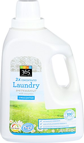 (365 Everyday Value, 2X Concentrated Laundry Detergent, Unscented, 100 Fl Oz)
