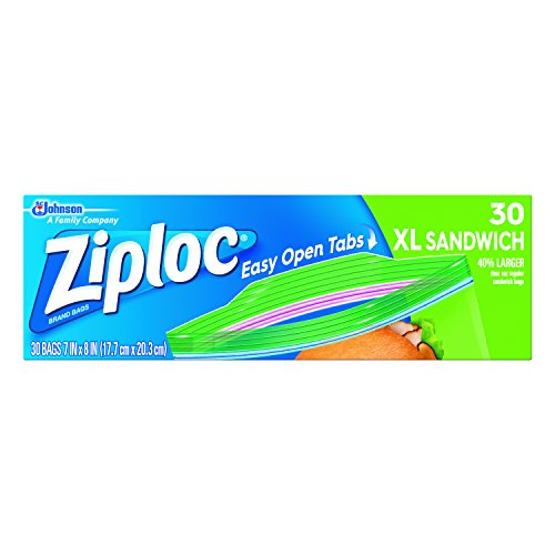 Ziploc Sandwich Bags, X-Large, 30-Count(Pack of 3)