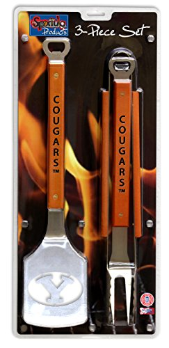 NCAA BYU Cougars 3PC BBQ Set, Heavy Duty