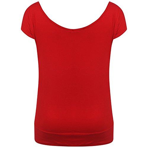 Pickle florale Butterfly Red Hauts Volez Paillettes Shirts Mesdames Nouveaux beurre Encolure Chocolate T gTq0fawgd