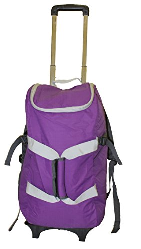 Ultralight Wheeled Upright - dbest products Smart Backpack, Purple and Grey  4-1 Rolling Backpack Luggage Duffel Gym Bag Removable Dolly Laptop  Tablet Pocket