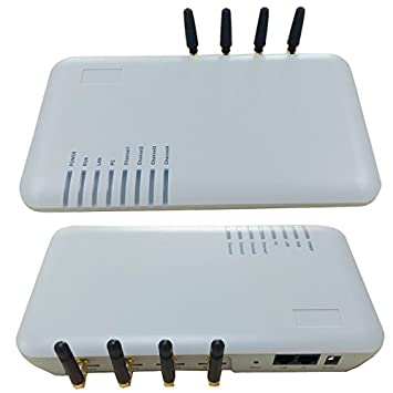 GSM VOIP Gateway GOIP 4 SIM Channels SIP ATA Support: Amazon co uk