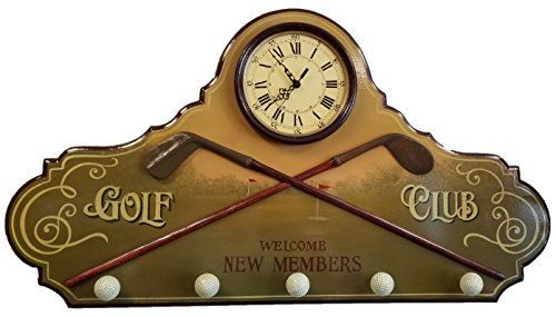 Bishop, Adams & Company Golf Clubhouse New Members Wall Clock, Hat and Coat Rack