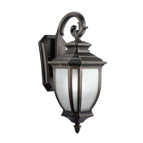 - Kichler 9040RZ Salisbury Outdoor Wall 1-Light, Rubbed Bronze