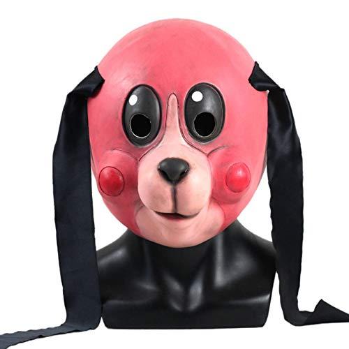 N/G Umbrella Academy Hazel Cha Cha Máscara, Máscara de Disfraz de látex de Halloween Cosplay, Máscaras de Gato de Dibujos Animados Casco de Animal, Accesorios de Disfraces de películas