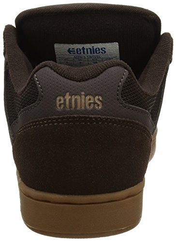 Etnies Swivel Gum, Chaussures de Skateboard Homme, Grey Black White, 42 EU Marron (Brown/Gum 212)