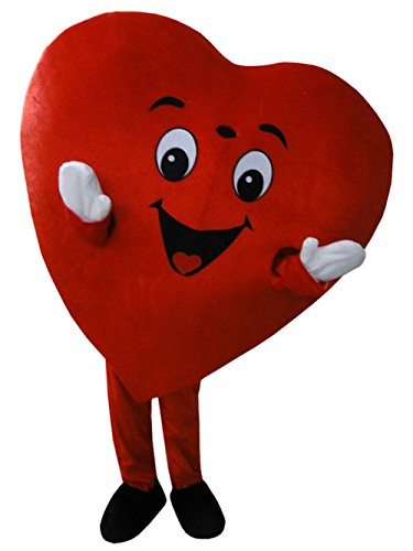 Red Heart Mascot Costume Heart Costume Adult Halloween