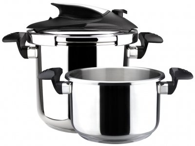 - MageFesa Nova Stainless Steel Super Fast Pressure Cooker, 4 and 6 Qt.