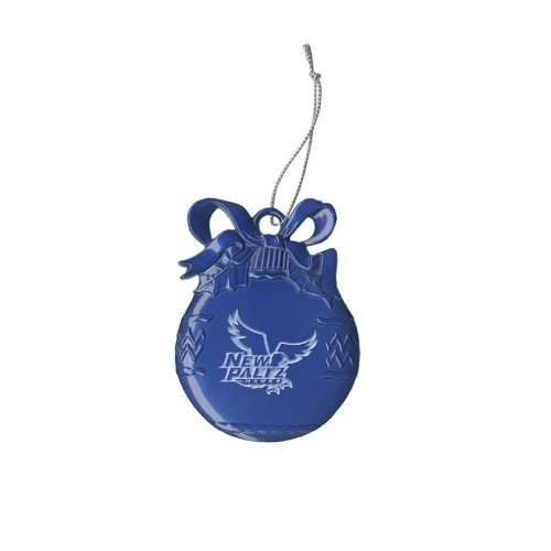 CollegeFanGear New Paltz Royal Bulb Ornament 'Official Logo Engraved' by CollegeFanGear