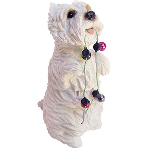 Sandicast West Highland White Terrier with Holiday Lights Christmas -