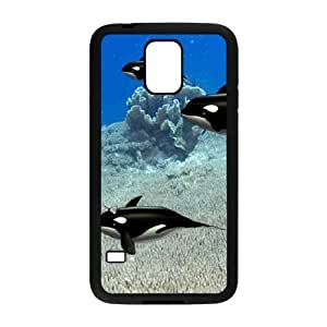 Dolphin The Unique Printing Art Custom Phone Case for SamSung Galaxy S5 I9600,diy cover case ygtg518519