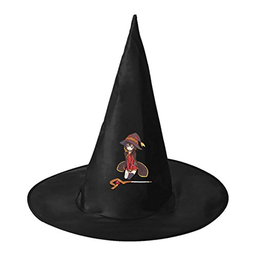 SEBIDAI Clever Mage Black Wizard Cap Witch Hat for Adults Kids Halloween Costume Party
