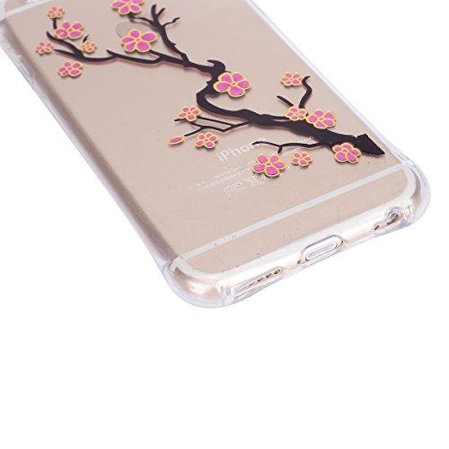 Funda para iPhone 6 6S, funda de silicona transparente para iPhone 6 6S, iPhone 6 6S Case Cover Skin Shell Carcasa Funda, Ukayfe caso de la cubierta de la caja protectora del caso de goma Ultra Delgad Ciruelo rojo