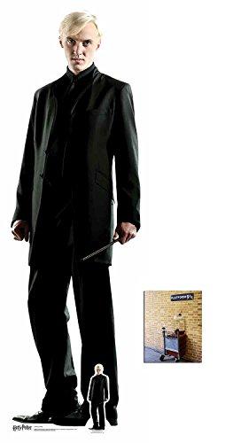 Fan Pack - Draco Malfoy (Tom Felton) Harry Potter Lifesize and Mini Cardboard Cutout / Standup - Includes 8x10 Star Photo
