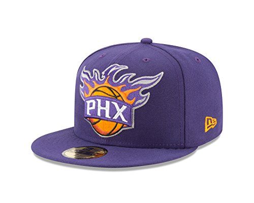 NBA Phoenix Suns Logo Grand Fitted 59Fifty Cap, 7, - Sun King Logo