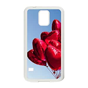 Red Heart Balloons Samsung Galaxy S5 Case, Case Vety {White}