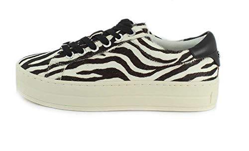JSlides Leather Pony Zebra Women's Sneaker Hippie FFqUr