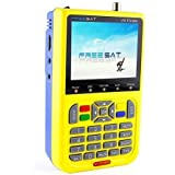 Freesat V8 Digital Satellite Finder DVB-S2 FTA 1080P HD MPEG-2 MPEG-4 3.5inch LCD Receiver