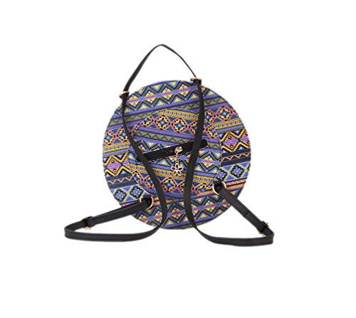 Mano Vintage Cross de Mujer Body Bolsos Bandolera Cuero de Hombro Bolsos Bolsos Pequeña Sombrero PU Bolsos Multicolor qf8Xw1