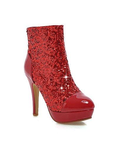 Eu42 Zapatos Oficina A us10 Plataforma La Stiletto Mujer 5 Rojo Vestido 5 Golden Cn36 Moda Eu36 us6 E Trabajo Y Xzz Botas Semicuero Tacón Cn43 negro Uk4 Casual Black De Uk8 vHw1W0dq