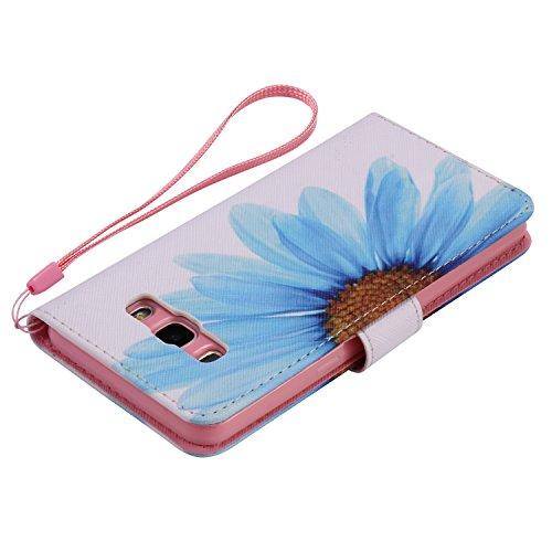 PU para Galaxy J5(2016) J510funda Flip cover de piel para Galaxy J5(2016) J510Flip Cover Funda Libro Con Tarjetero Función Atril magnético + Polvo Conector morado 2 6