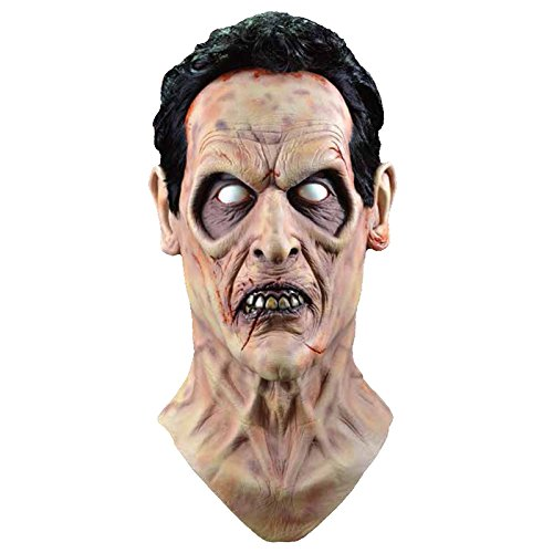 Evil Ash Costumes (Trick or Treat Studios Men's Evil Dead 2-Evil Ash Mask, Multi, One Size)