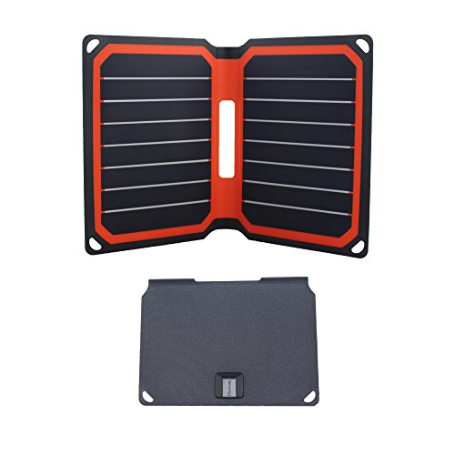 FlexSolar Foldable Solar Charger 8.5W Portable Sunpower Solar Charger Panel with USB Port for Power Bank Smart Phone and All 5V Electronic Devices Orange by FlexSolar