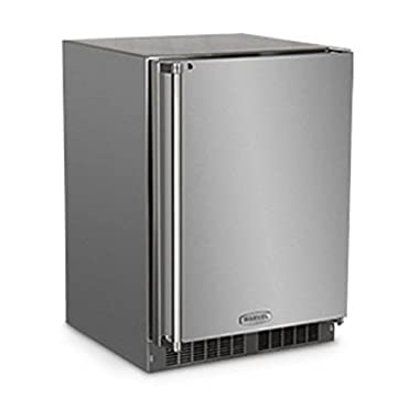 Marvel MO24RAS2RS Outdoor Refrigerator with MaxStore Utility Bin, Solid Door with Lock, Right Hinge, 24, Stainless Steel