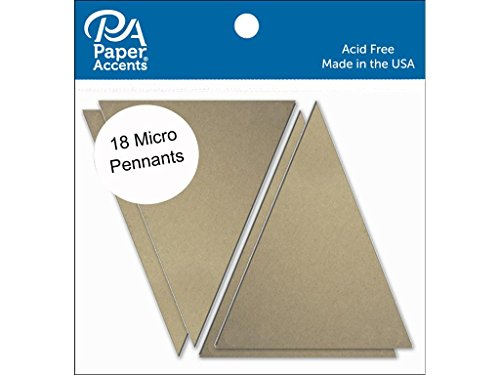 Accent Design Paper Accents ADPPEN.16 Micro 1.25x2 Natural Chipboard Chip Pennant (Chips Chipboard)