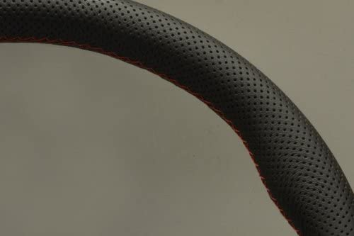 Nardi Steering Wheel 13.78 inches - Black Perforated Leather with Red Stitching Gara 3//0-350mm Part # 6020.35.2093