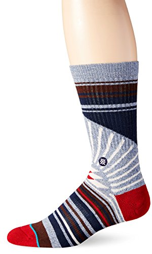 Stance Men's Arecibo Classic Crew Socks, Blue, Large/Shoe Size 9-12
