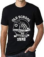 Hombre Camiseta Vintage T-Shirt Gráfico Old School All Star Since 1978 Cumpleaños de 43 años Negro Profundo