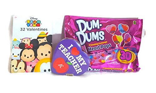Valentines Day Cards Gift Set (Tsum Tsum 32 with Teachers Gift)