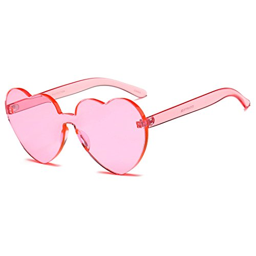 Mujer Pink Estilo de Sol Gafas de UV de Gafas de Protección Corazón Sol para Sol con Gafas con Fansport zIqUn5wq