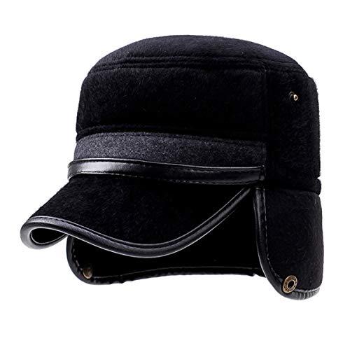 Sombrero Sombrero de de Sombreros Orejeras Sombrero qin Grueso Viejo Gorra A otoño GLLH de Mediana de Invierno hat Edad béisbol Padre e A cálido qHzfWZ