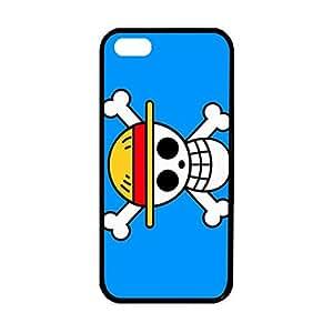 Japanese Anime Cartoon One Piece Logo Flag Plastic and TPU Custom Case for iPhone 5/5s