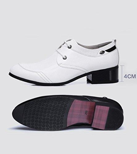 Cuir white Business en Homme Respirant Chaussures Chaussures Cuir LEDLFIE Bq8dUB